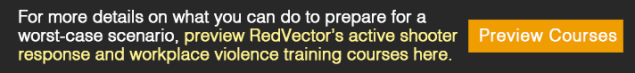 RedVector's active shooter response and workplace violence training courses