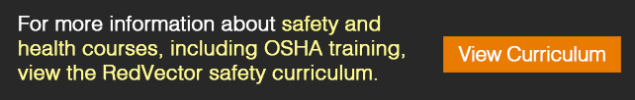 safety and health courses, including OSHA training